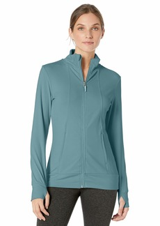 Jockey Women's Active Lightweight Mock Neck Zip Up Jacket Ocean Floor-45000