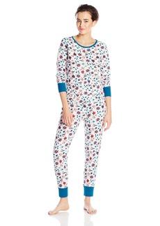 Jockey Women's Baby Waffle Printed Pajama Set