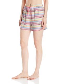 Jockey Women's Striped Boxer Short  L