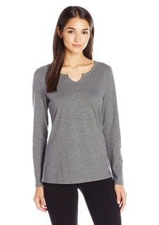 Jockey Women's Brushed Cotton Jersey Long Sleeve Top  XL