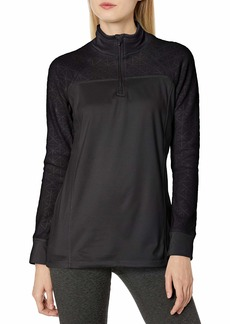 Jockey Women's Burnout Microfleece Half Zip Top  S