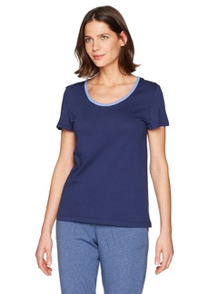 Jockey Women's Cotton Jersey Short Sleeve Top With Back Keyhole Detail  S