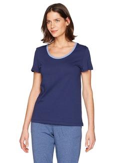 Jockey Women's Cotton Jersey Short Sleeve Top With Back Keyhole Detail  XL