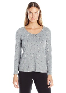 Jockey Women's Cotton Printed Long Sleeve Top