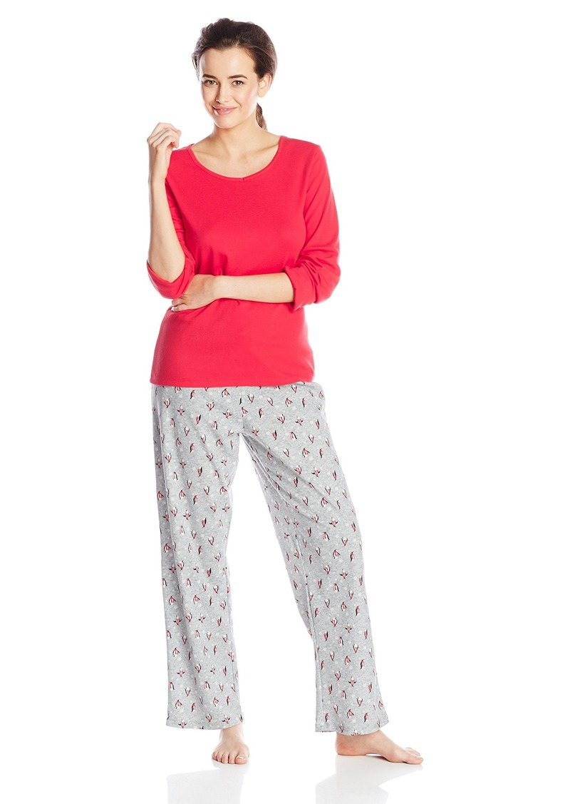7149ad4553 Jockey Jockey Women s Cotton Two-Piece Pajama Set Now  51.00