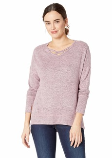 Jockey Women's Cozy Criss Cross Pullover Sweatshirt