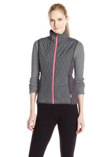 Jockey Women's Crystal Frost Transition Vest Grey Weave/Electrical Coral L