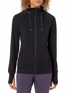 Jockey Women's Double Collar Full Zip Hooded Jacket