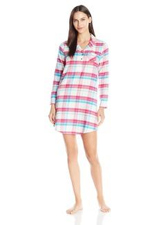 Jockey Women's Plaid Flannel Sleepshirt