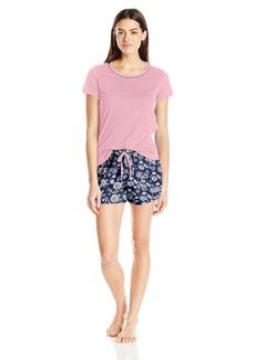 Jockey Women's Knit Boxer Pajama Set