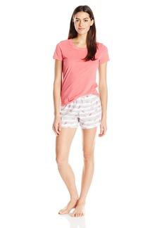 Jockey Women's Knit Boxer Pajama Set