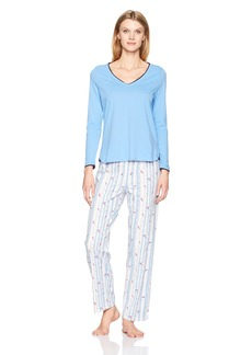 Jockey Women's Knit Vneck Top Pajama Set  L