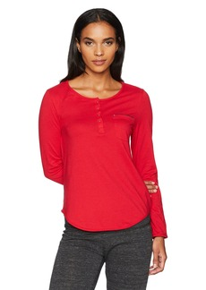 Jockey Women's Long Sleeve Henley Top  XL