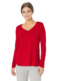 Jockey Women's Long Sleeve Sleep TOP red S