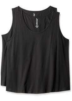 Jockey Women's Plus Size Cotton 2 Pack Tank