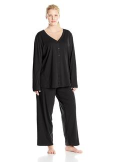 Jockey Women's Plus-Size Cotton Cardigan Pajama Set  1X