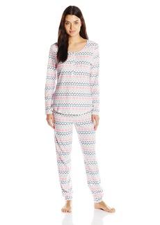 Jockey Women's Printed Cotton Spandex Pajama Set