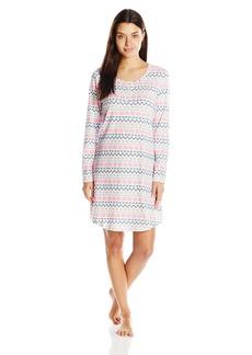 Jockey Women's Printed Cotton Spandex Sleepshirt