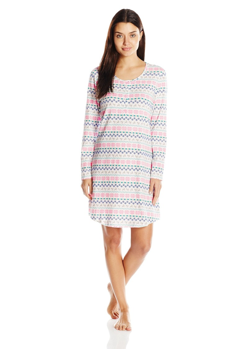 3fad1bfba1 Jockey Jockey Women s Printed Cotton Spandex Sleepshirt