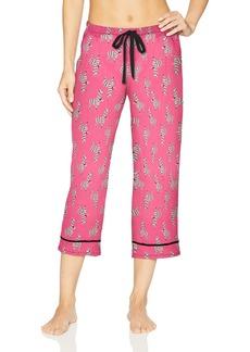 Jockey Women's Printed Cropped Pajama Pant no Drama Llama XXL