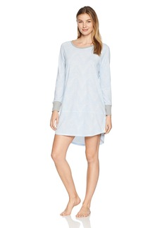Jockey Women's Printed Long Sleeve Sleepshirt  M