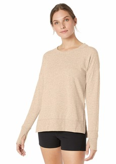 Jockey Women's Plus Size Pullover Crewneck Sweatshirt Oatmeal Beige HEATHER-18201