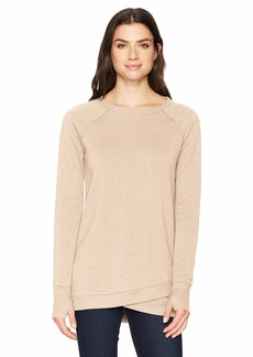 Jockey Women's R&r Crisscross Tunic Dress Oatmeal Beige HEATHER-18201