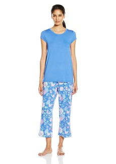 Jockey Women's Short Sleeve Capri Pajama Set