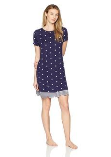 Jockey Women's Short Sleeve Dot Stripe Sleepshirt  S