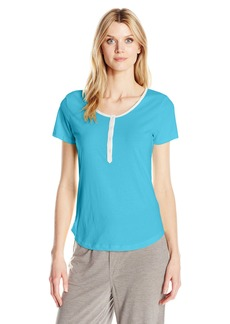 Jockey Women's Short Sleeve Henley Top  L