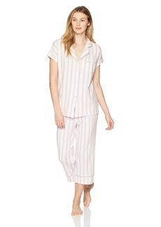 Jockey Women's Short Sleeve Notch Collar Pajama Set  XXL