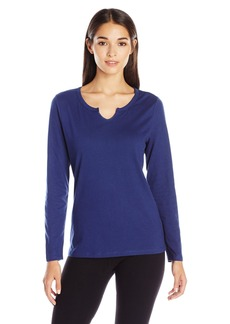 Jockey Women's Standard Brushed Cotton Jersey Long Sleeve Top  L