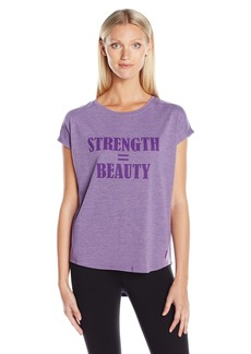 Jockey Women's trength = Beauty Inspirational Burnout Tees