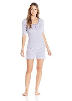 Jockey Women's Striped Henley with Boxer Short Set