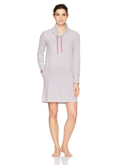 Jockey Women's Striped Thermal Sleepshirt  L