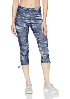 Jockey Women's Texture Weave Print Capri  L