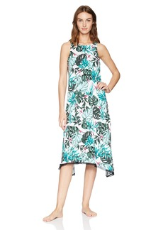 Jockey Women's Tropical Midi Nightgown Bird L