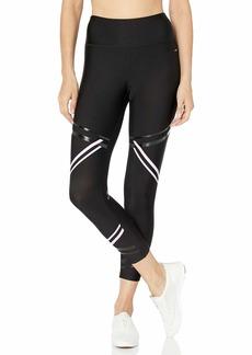 Jockey Women's Wide Waistband Fashion Capri Legging Cotton Plum/black-54919