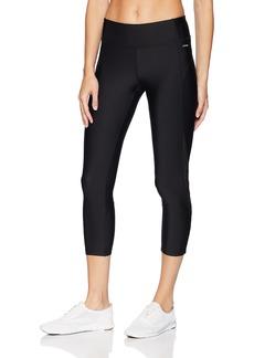 Jockey Women's Wide Waistband Fashion Capri Legging deep Black