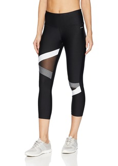 Jockey Women's Wide Waistband Fashion Capri Legging Pure White/Gray Melange/deep Black Combo