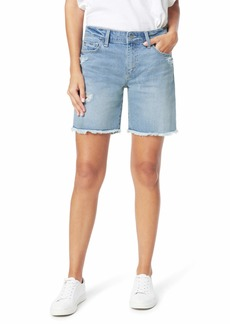 "Joe's Jeans 7"" Bermuda Shorts Fray Hem in Shasta"