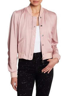 Joe's Jeans Adelina Washed Satin Bomber Jacket