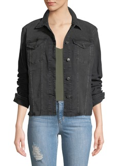 Joe's Jeans Ashley Raw-Hem Denim Jacket