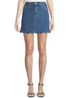 Joe's Jeans Bella Scalloped Denim Mini Skirt
