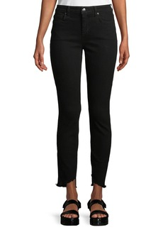 Joe's Jeans Blondie Skinny Frayed-Ankle Jeans