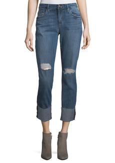 Joe's Jeans Boyfriend Distressed Stretch-Denim Jeans