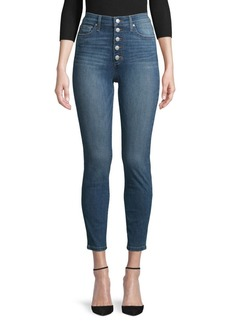 Joe's Jeans Button-Fly Cropped Jeans