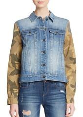 Joe's Jeans Camo Print-Paneled Denim Jacket