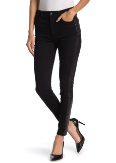 Joe's Jeans Charlie Coated Side Stripe High Rise Skinny Ankle Jeans