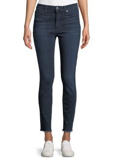 Joe's Jeans Charlie Frayed-Ankle Skinny Jeans